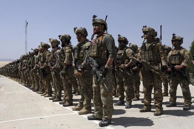 Newly Afghan Army Special forces attend their graduation ceremony (Rahmat Gul/AP)