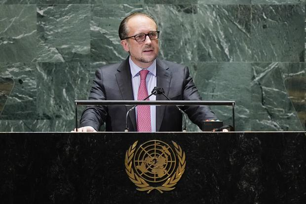 Alexander Schallenberg is currently Austria's foreign minister (Mary Altaffer, Pool/AP)
