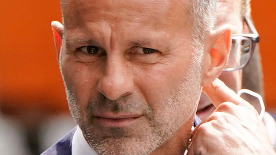Former Manchester United footballer Ryan Giggs arrives at Manchester Crown Court earlier.