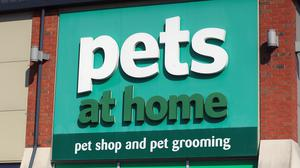 A general view of a Pets at Home store