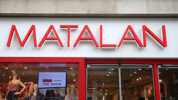 Matalan's total revenue increased 4% to £148 million in the five weeks to December 29 (Yui Mok/PA)