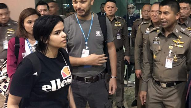 Saudi woman Rahaf Mohammed Alqunun could be allowed to resettle in Australia (Immigration police/AP)