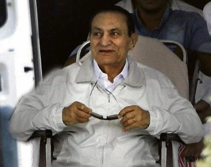 The wheelchair-bound ex-president, Hosni Mubarak