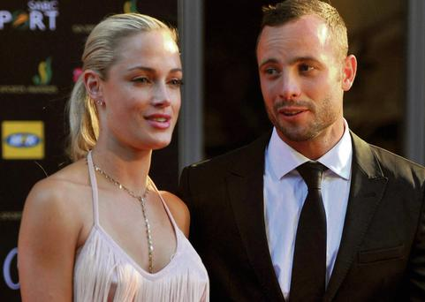 Pistorius with Reeva Steenkamp in 2012