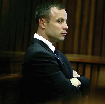Oscar Pistorius pictured during his trial.