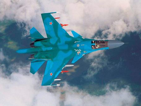 AIR POWER: Russia's SU-34 fighter/bomber is flying in Syria