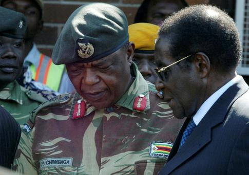 President Robert Mugabe pictured with General Constantino Chiwenga in Harare, in 2008. Photo: Reuters/Philimon Bulaway