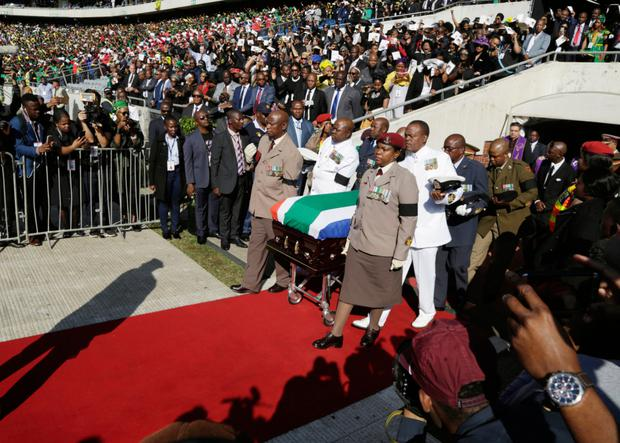 TRIBUTE: Thousands of mourners at Winnie Madikizela-Mandela's official funeral yesterday. Photo: Themba Hadebe/AP