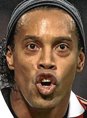 On remand: Ronaldinho is facing fraud charges.