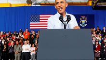 U.S. President Barack Obama campaigning in Michigan over the weekend