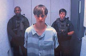 NIGHTMARE: Dylann Roof appears via video before a judge in Charleston, South Carolina, on Friday