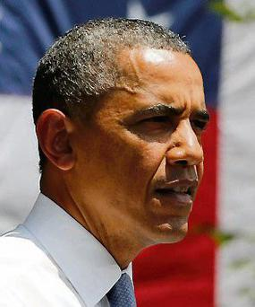 U.S. President Barack Obama speaks about his vision to reduce carbon.
