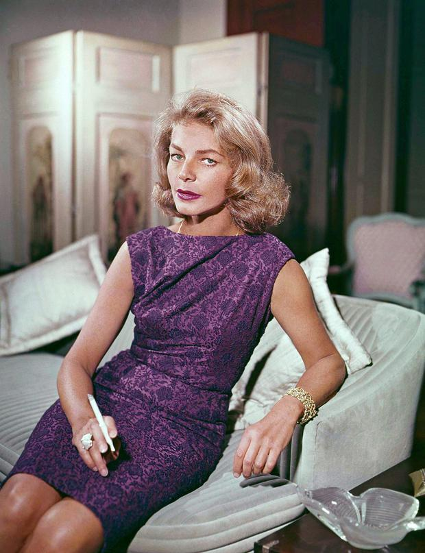 The actress Lauren Bacall who has died aged 89