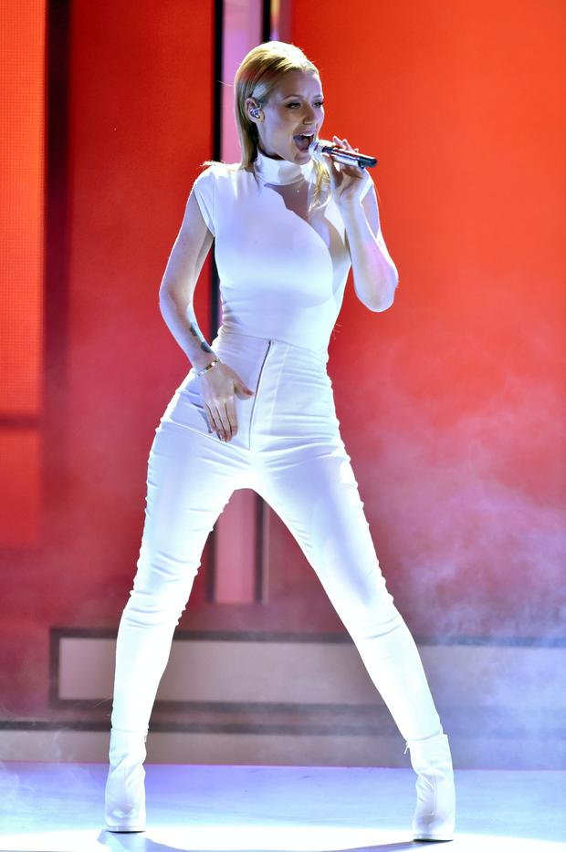Iggy Azalea performs onstage at The 41st Annual People's Choice Awards at Nokia Theatre in LA