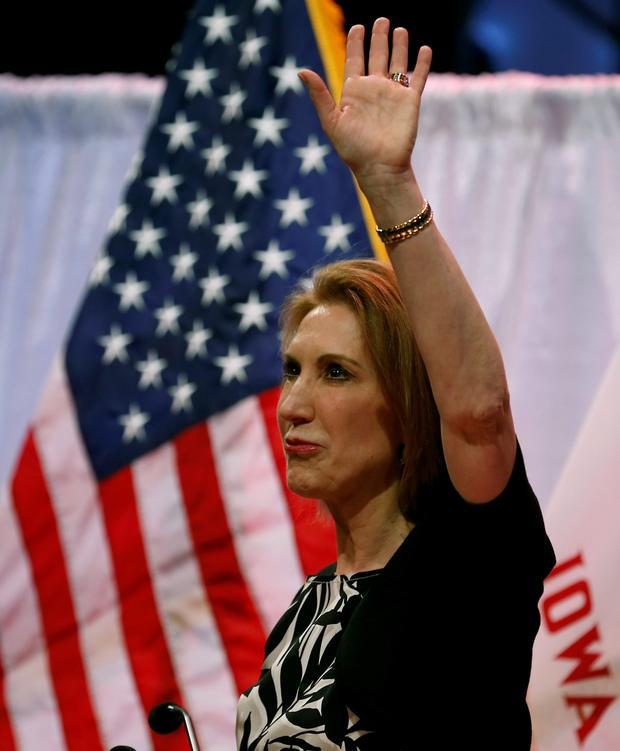 Carly Fiorina, who is running for the Republican nomination.