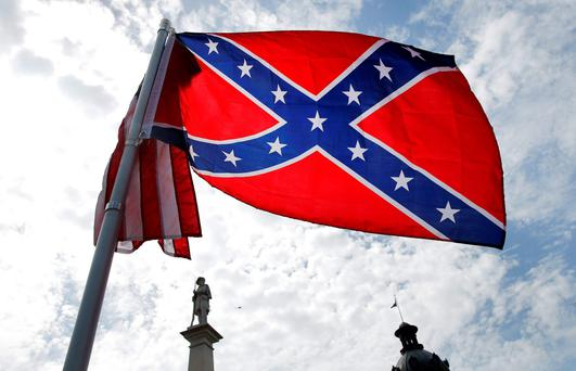 The Confederate flag flies in South Carolina