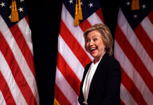 US Democratic presidential hopeful Hillary Clinton