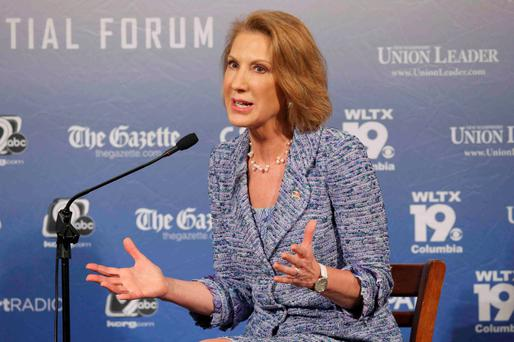 Republican US presidential candidate and former Hewlett-Packard CEO Carly Fiorina participates in the Voters First Presidential Forum in Manchester, New Hampshire. Photo: Brian Snyder