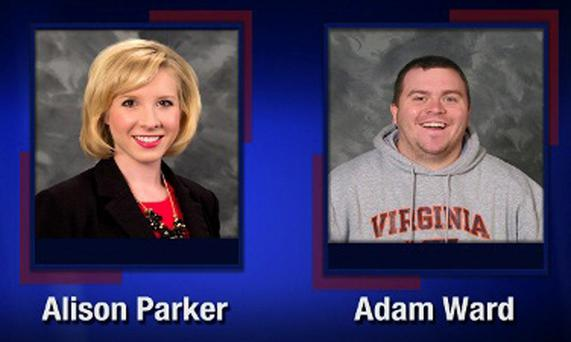 Journalists Alison Parker and Adam Ward, who were murdered live on TV by Vester Flanagan