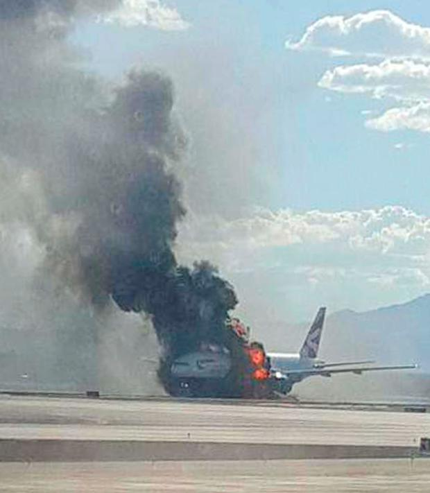 The BA plane which caught fire in Vegas.