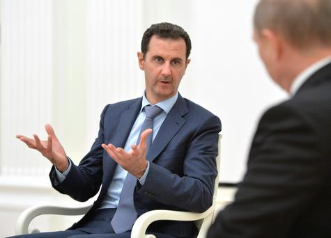 Syrian President Bashar Assad: receiving Russian help