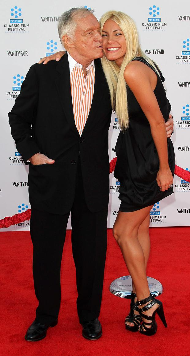 Hugh Hefner and his wife Crystal Harris