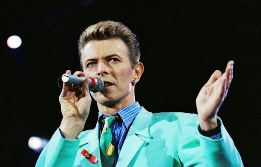 David Bowie on stage in 1992