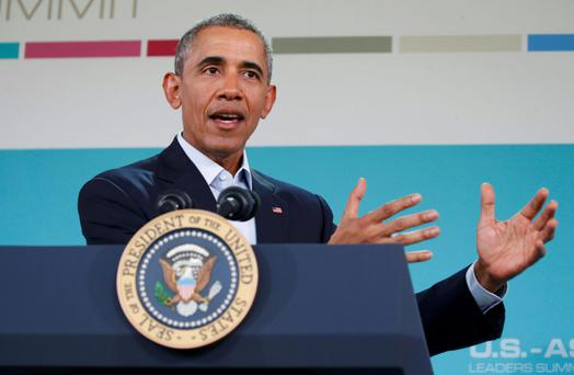 President Barack Obama speaks after the Association of Southeast Asian Nations summit in California (Photo: Kevin Lamarque)