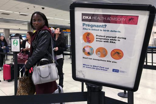 Zika warning at Miami international airport