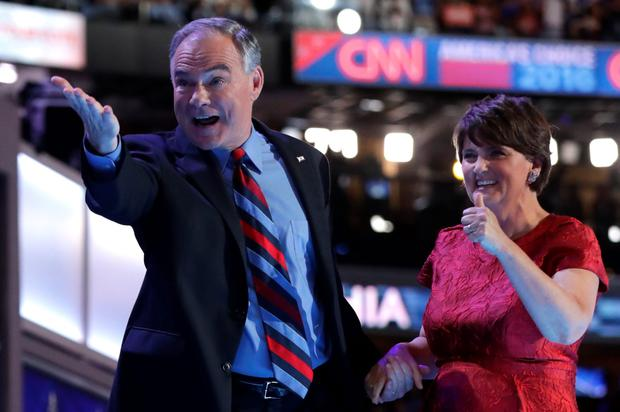 Democratic vice presidential candidate Time Kaine and his wife Anne Holton