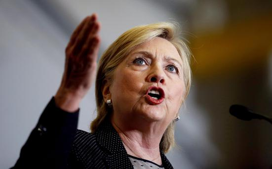 Hilary Clinton. Photo: Reuters