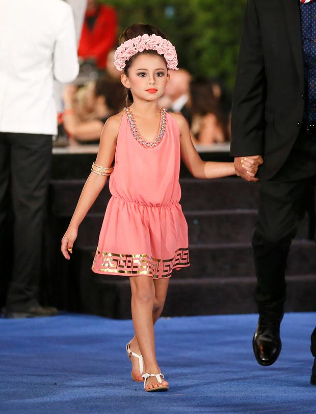 Dinorah Valentina Hernandez, also made the headlines as she strode the catwalk in a designer dress. Photo: Getty
