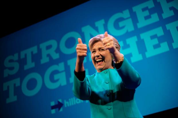 Flush with money: Clinton. GETTY