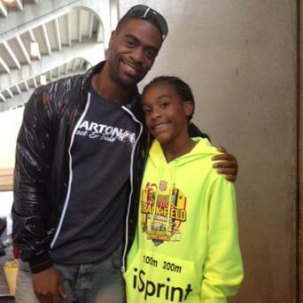 Victim: Tyson Gay and his daughter Trinity