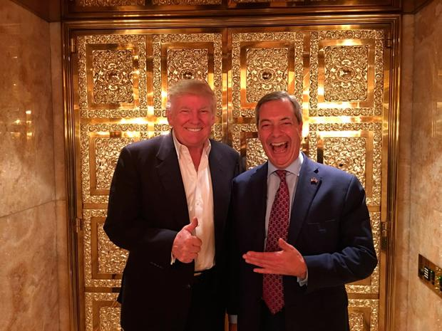 Nigel Farage posted this image on Twitter of his meeting with Donald Trump at Trump Tower at the weekend