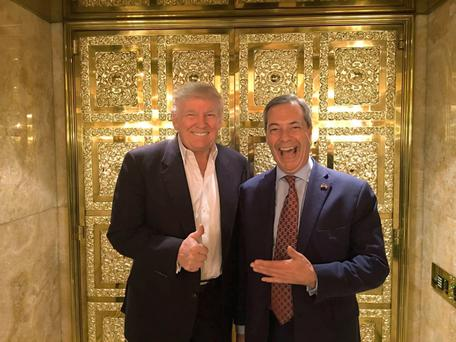 Donald Trump and Nigel Farage (file photo)