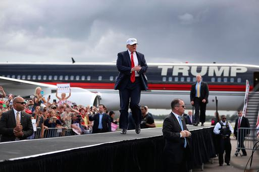 Donald Trump Campaigns In Battleground State Of Florida