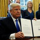 President Trump signed an executive order yesterday to permit the Keystone XL pipeline, from Canada to Texas