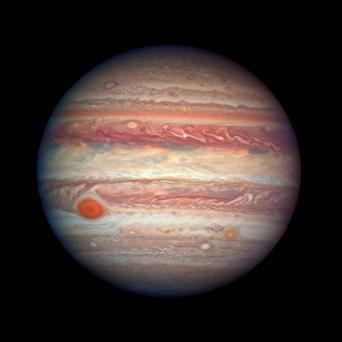 Jupiter's atmosphere captured by the Hubble telescope. Photo: PA