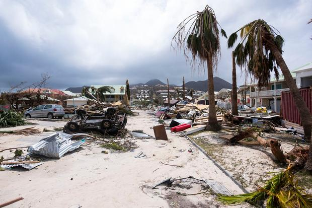 A scene of devastation in Orient Bay on the French Carribean island of Saint Martin after the passage of Hurricane Irma. Photo: Reuters.