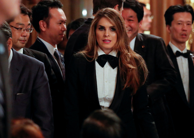 Departing White House communications director Hope Hicks. Photo: Reuters