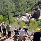 International journalists observe the destruction of the Punggye-ri test site in North Korea. Photo: Reuters