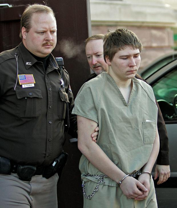 Brendan Dassey, 16, is escorted out of a Manitowoc County Circuit courtroom in Manitowoc, Wis. in 2006. Photo: AP