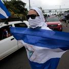 An anti-government protester in Ticuantepe, Nicaragua. Photo: Reuters