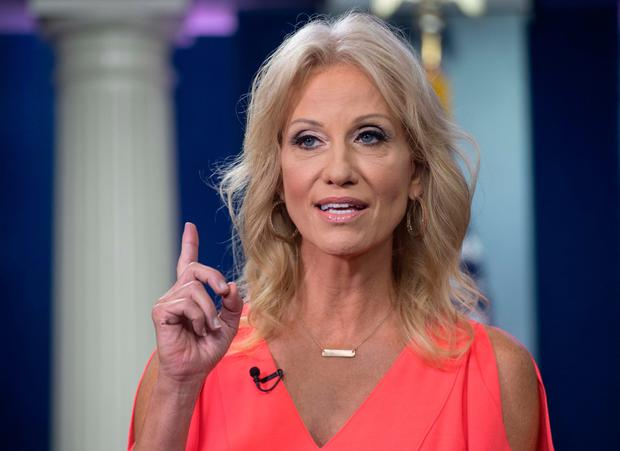 Disclosure: White House adviser Kellyanne Conway said during an interview yesterday that she had been a victim of sexual assault. Photo: Getty