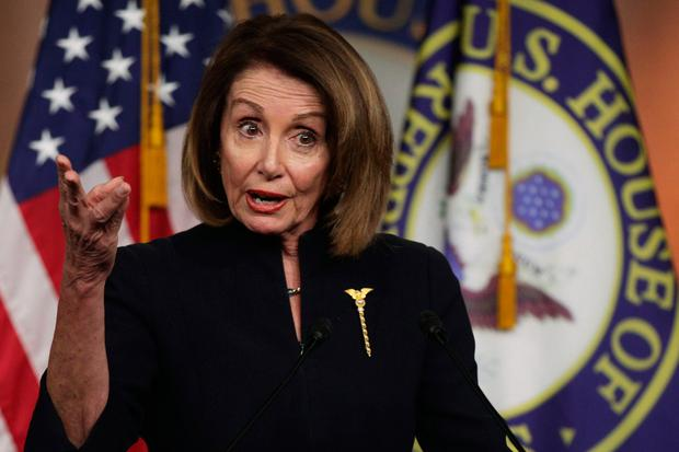 Battle of wills: House Speaker Nancy Pelosi (pictured) and Donald Trump are keen to avoid another government shutdown that left thousands without an income. Photo: Getty