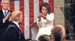 Remarks: House Speaker Nancy Pelosi said impeaching Donald Trump would divide the country 'and he's just not worth it'. Photo: Reuters