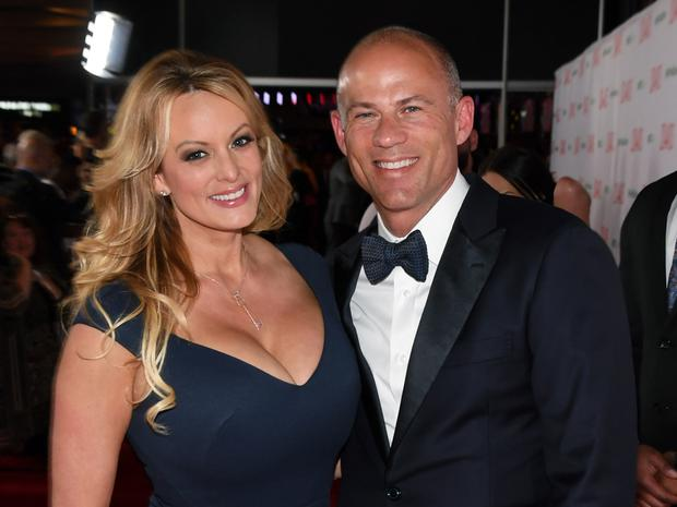 Left- Stormy Daniels and right, Michael Avenatti. Photo: Ethan Miller/Getty Images