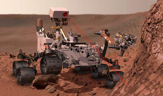 Findings: Nasa's Curiosity rover has discovered higher levels of methane.