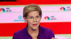 Debate: Elizabeth Warren and Beto O'Rourke. Photo: AP